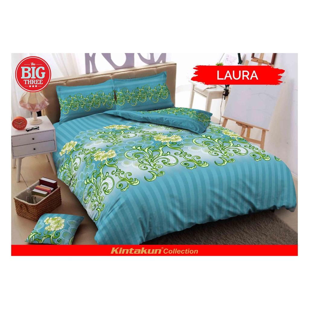 Set Bedcover Sprei Rumbai 180x200 Kintakun Deluxe Motif Rainbow Dluxe 180 X 200 B4 King Green Forest Size Bc Shopee Indonesia