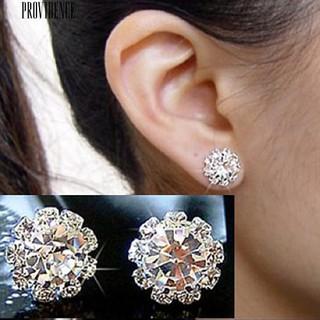[Bayar Di Tempat]Anting Tusuk Bentuk Bunga Berlian Imitasi untuk Wanita | Shopee Indonesia