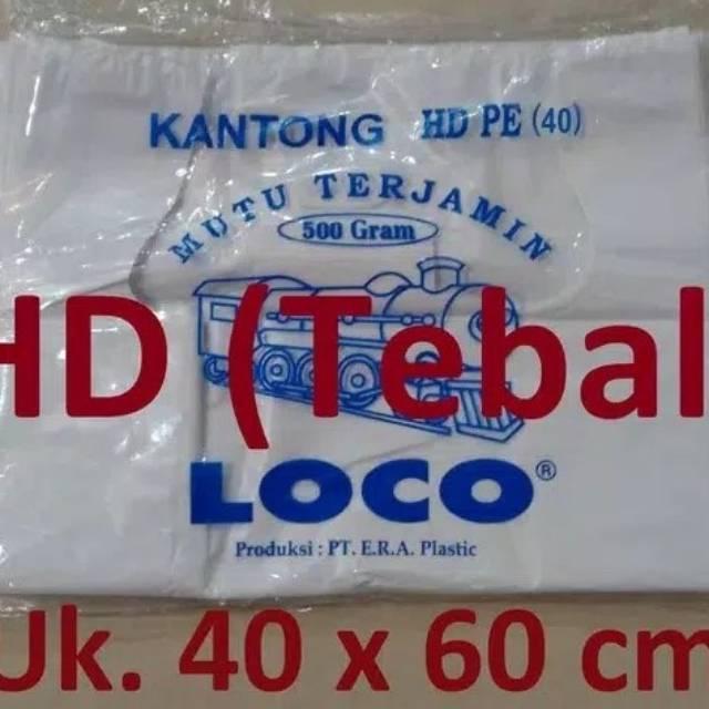 Kantong Plastik Kresek Loco Tebal Merah 1 kg ukuran 50   Shopee Indonesia