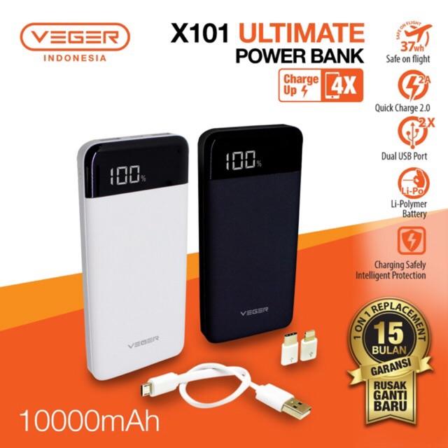 PowerBank Veger X101 10.000mAh Re