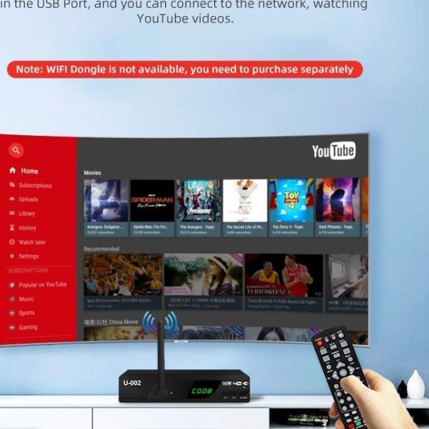 ï EZ-BOX Set Top Box DVB-T2 Kualitas Top,Harga Promo!! - Tanpa Donggle