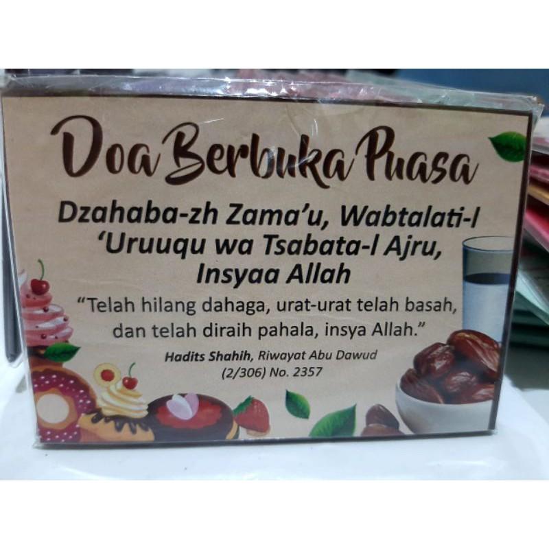 Tempelan Kulkas Maghnet Doa Berbuka Puasa Yang Sahih Shopee Indonesia