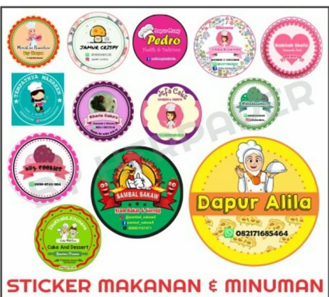 Sticker Makanan Dan Minuman Desain Logo Makanan Desain Logo