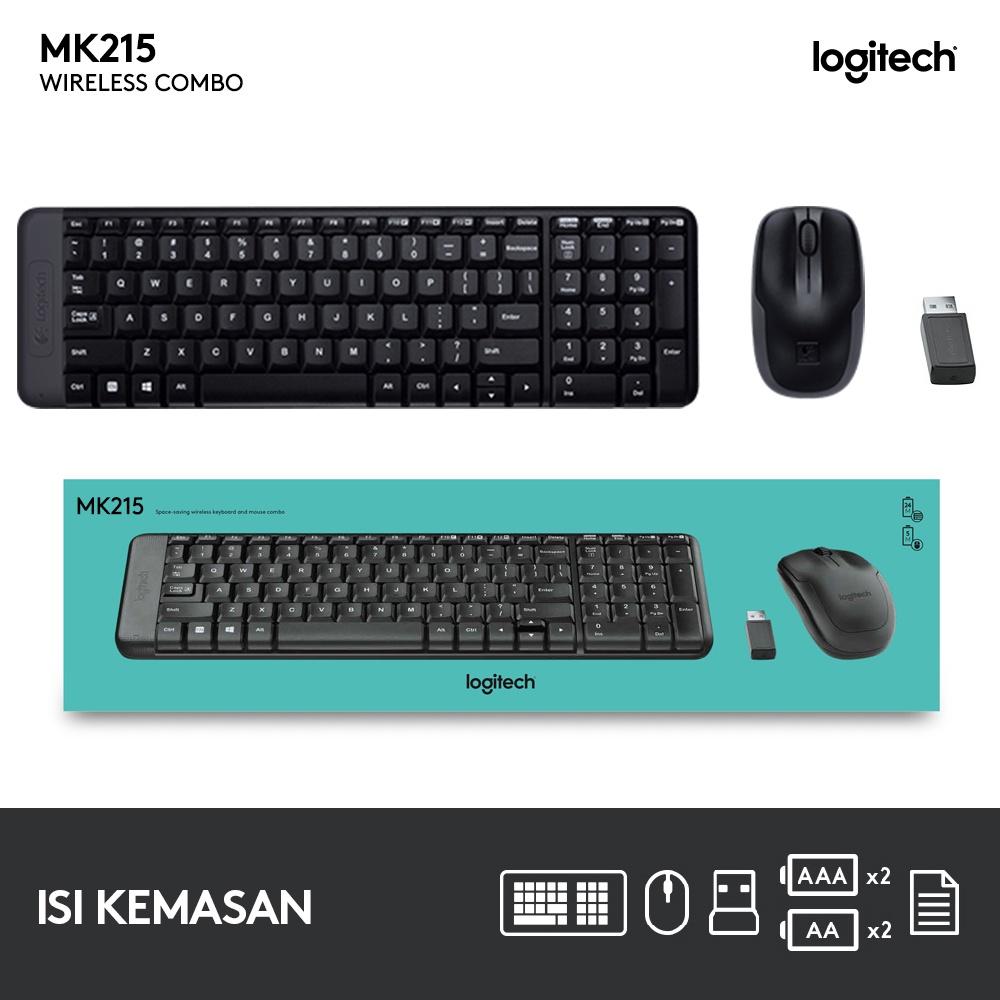 Logitech MK215 Wireless Combo Keyboard Mouse-4