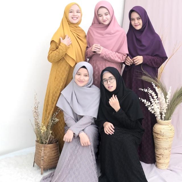 Gamis Safwa Brokat Hanya Gamis By Hijab Alila Shopee Indonesia