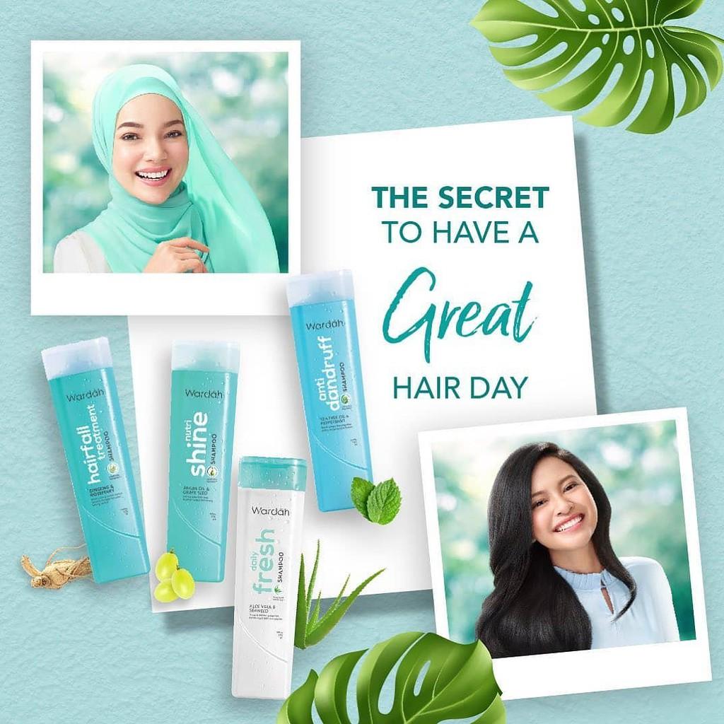 ❤ BELIA ❤ Wardah Shampoo & Conditioner   Daily Fresh Hairfall Treatment Anti Dandruff Nutri Shine-8