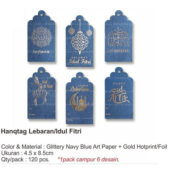 Hang Tag Gold Kraft Homemade Label Price Tag Edisi Lebaran Idul Fitri Shopee Indonesia