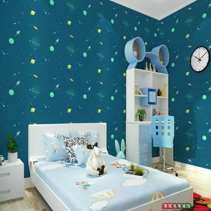 Wallpaper Sticker Dinding Kamar Anak Termurah Planet Luar Angkasa