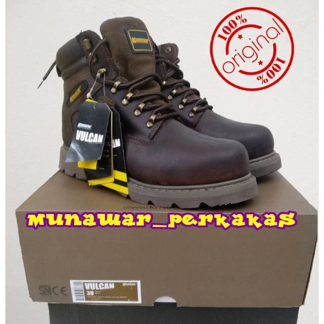 Sepatu Safety Original Krisbow Tipe Vulcan Full Kulit Warna