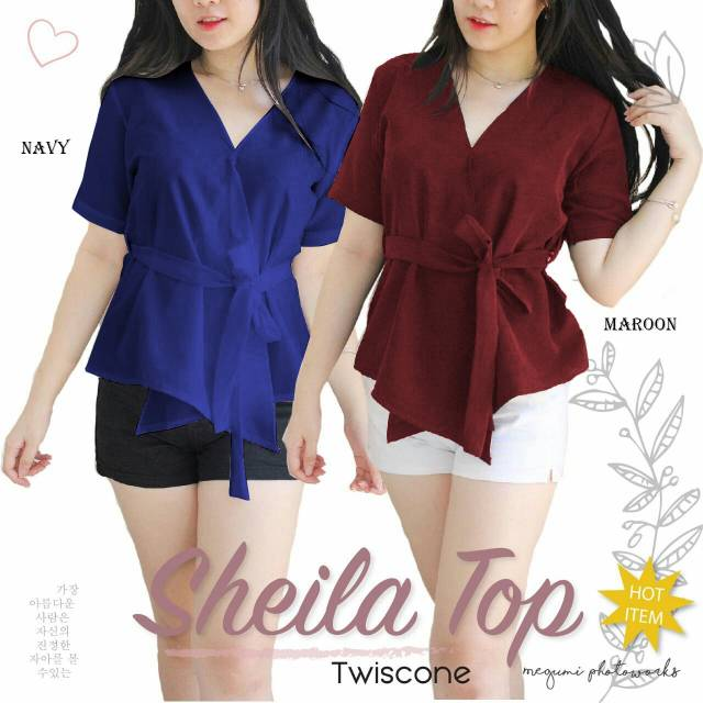 Mia Sabrina Top Plain Off Shoulder Sabrina Kaos Blouse Atasan Wanita  BL1041-W  e6e5bb55f7