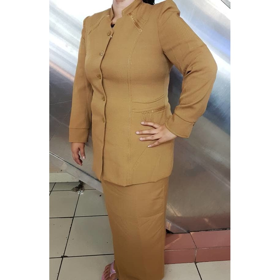 Seragam Pemda Coklat, Blazer Pemda, Setelan Pemda, Blus + Celana / Rok O2801 | Shopee Indonesia