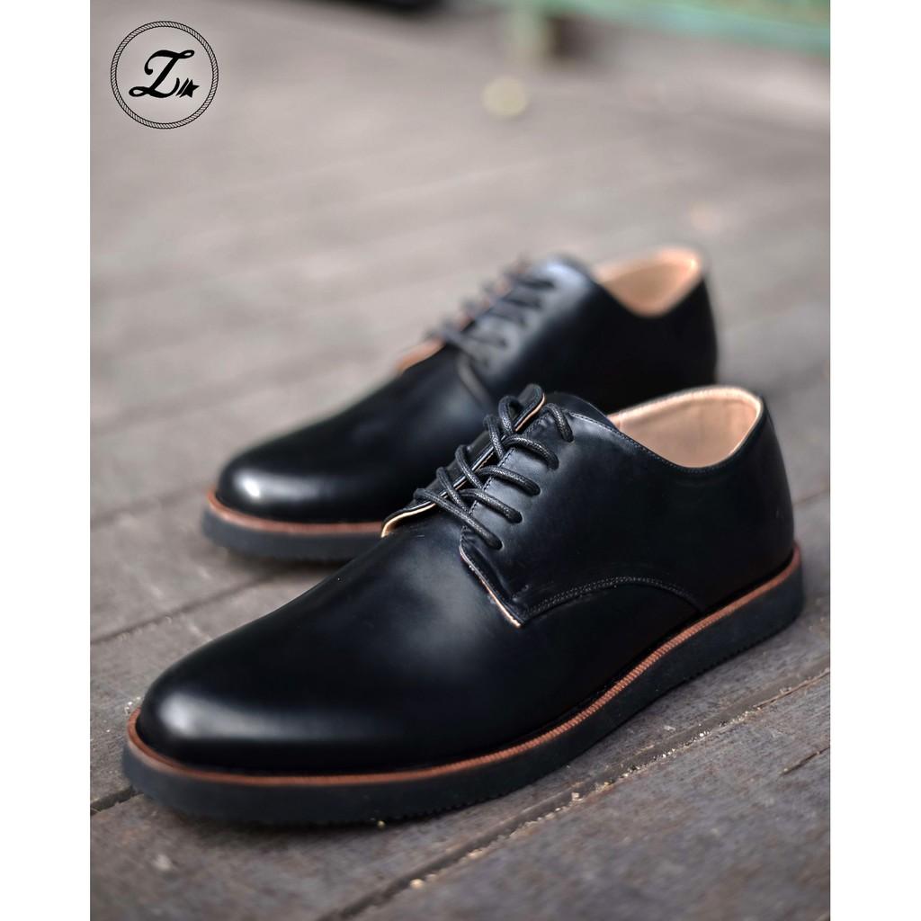 Sauqi Flex Casual Low Boots Pria Kulit Asli Black Daftar Harga Bloons Footwear Dark Dray Slip