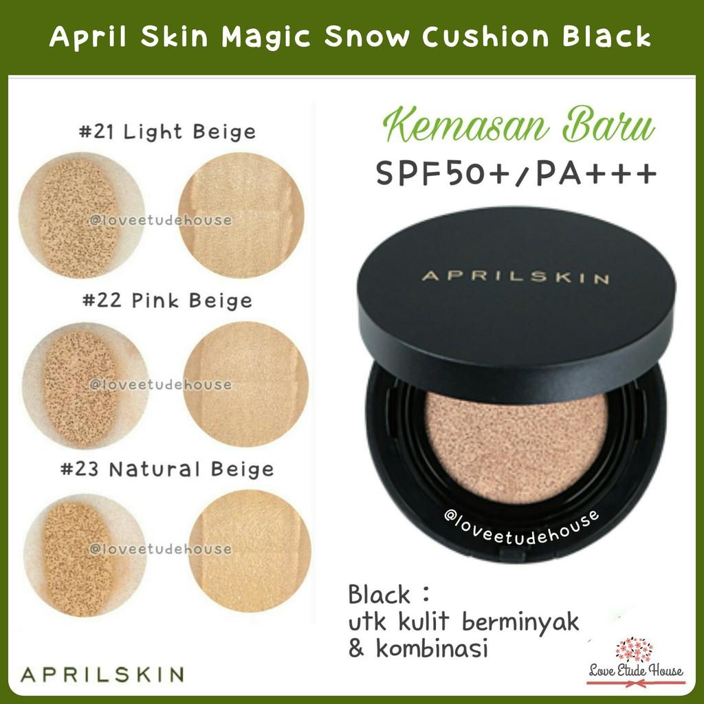 April Skin Magic Snow Cushion Black 20 Shopee Indonesia Versi
