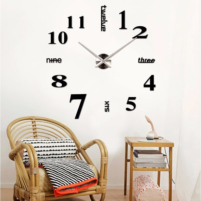 TERBARU Jam Dinding Modern 3D Frameless Large Wall Clock DIY Dekorasi  Dinding MURAH MERIAH  9c9a7f5336