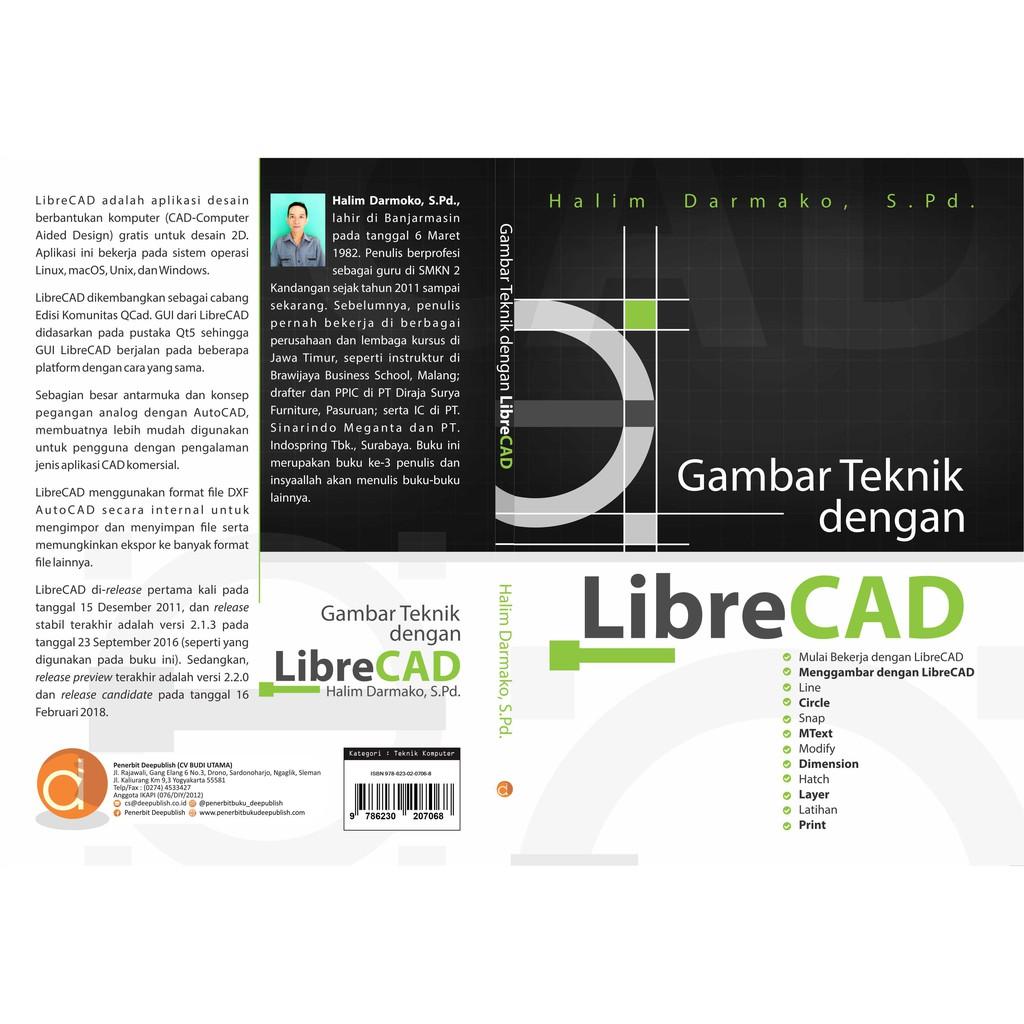 Buku Gambar Teknik Dengan Librecad Shopee Indonesia