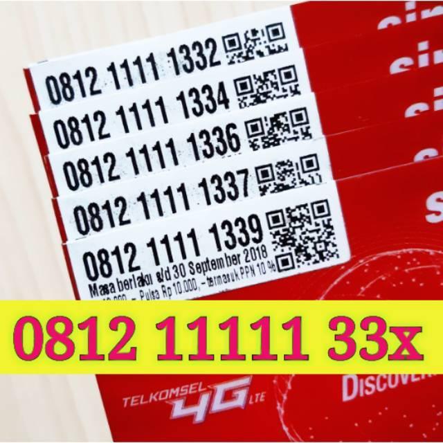 Nomor Cantik SIMPATI 4G LTE TELKOMSEL KARTU PERDANA NOCAN Super NOMER Panca Empat LANGKA 0812 44444