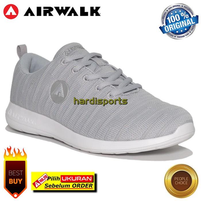 Sepatu Sneaker Wanita Airwalk Ginn Aiwx9f0125gy Light Grey