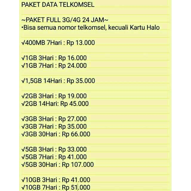 Paket Data Internet Agen Kuota Telkomsel Simpati As Loop Murah 3g 4g All Jaringan Shopee Indonesia