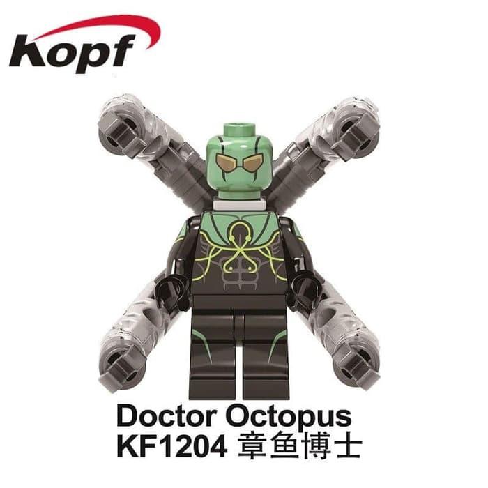 Doc Ock Kf1204 Spiderman Doctor Octopus Minfigure Lego Brick Kf6097 Shopee Indonesia