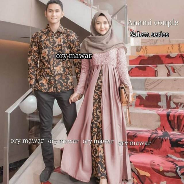 Anami Couple Gamis Batik Pesta Remaja Fashion Pesta Kebaya Modern Baju Batik Modern Baju Muslimah