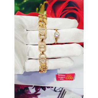 Gelang tangan plat chanel free cincin Xuping Gelang cantik