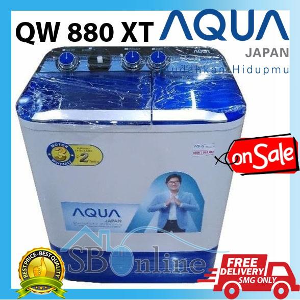 Aqua Mesin Cuci 2 Tabung 8 Kg QW-880XT (FREE ONGKIR JABODETABEK) | Shopee Indonesia