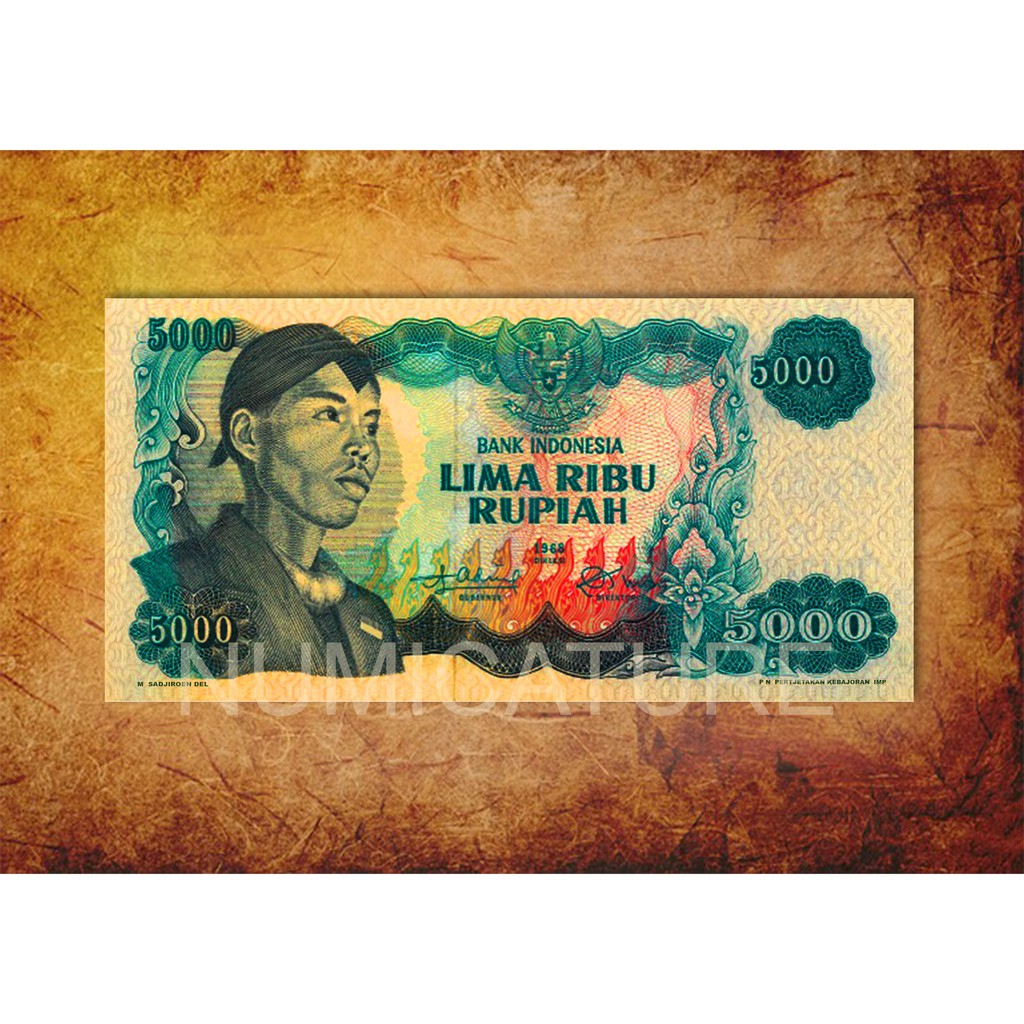 Uang 5000 jendral Sudirman replika repro souvenir