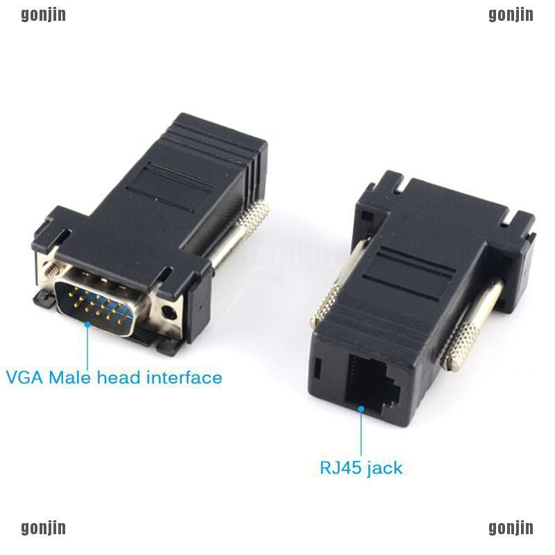 VGA Extender Net Cable Adapters VGA RGB HDB To LAN CAT5 CAT6 RJ45 Female//Male