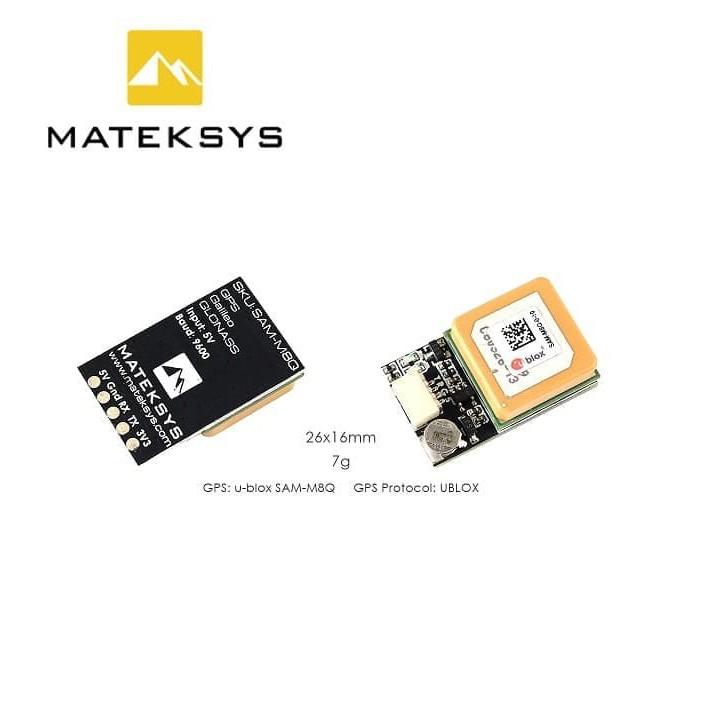 Matek System SAM M8Q GPS Ublox Module GLONASS Galileo QZSS SBAS