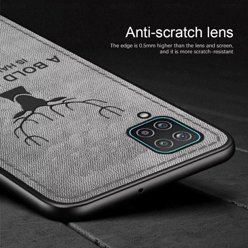 Original Case Samsung A12 2020 Cloth Leather Deer Case Premium Softcase Casing