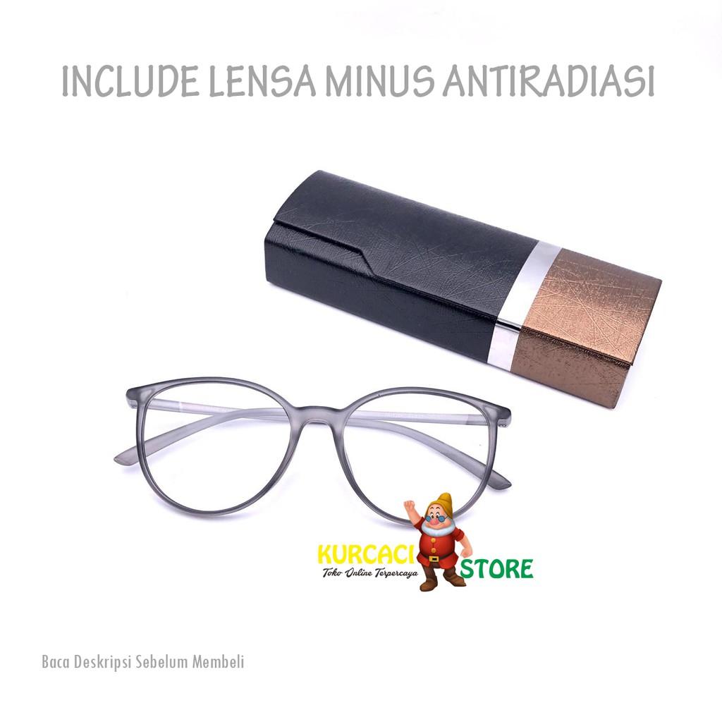 Frame Kacamata Wanita Cat Eye 8270 Include Lensa Minus Plus Silinder Murah   b12da8019a