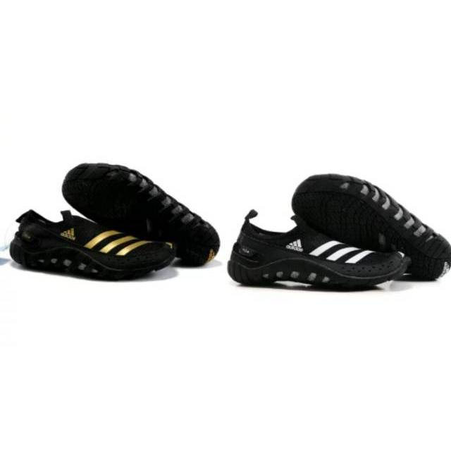 Adidas Climacool Jawpaw Ii Slip On Hitam Hijau Outdoor Water Shoes