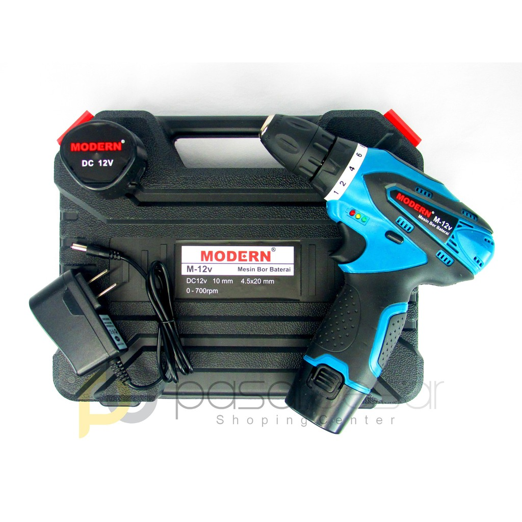 Mesin Bor Baterai Tanpa Kabel Sellery 12 V Cordless Drill Shopee Charger Indonesia