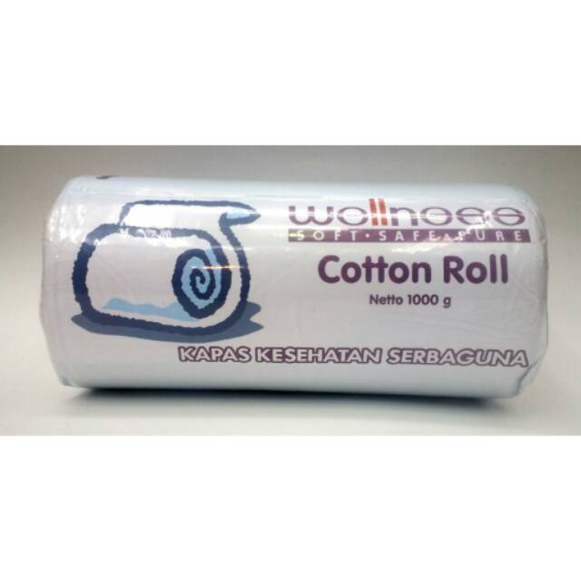wellness kapas gulung cotton roll 1000 gram kapas serbaguna utk bayi & ibu | Shopee Indonesia