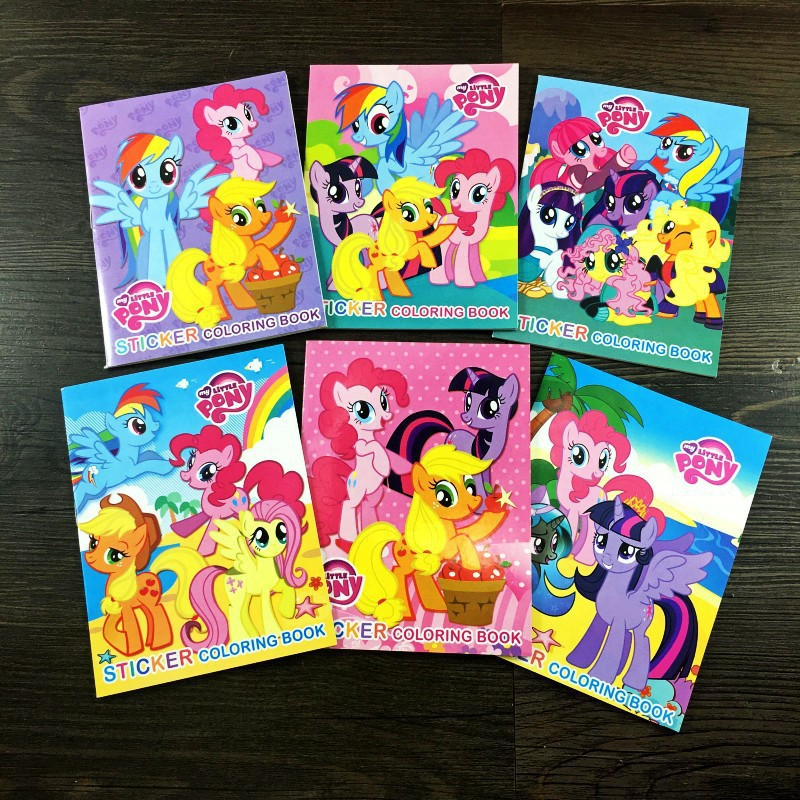 Buku Gambar Kartun My Little Pony Dengan Stiker Untuk Edukasi Anak Shopee Indonesia