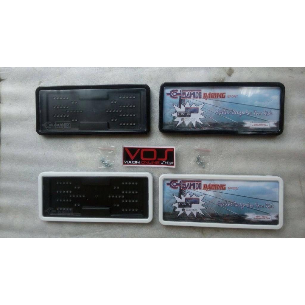 Tempat Dudukan Frame Cover Bingkai Plat Nomor Mobil Plastik Abs Motor Keras Tebal Shopee Indonesia