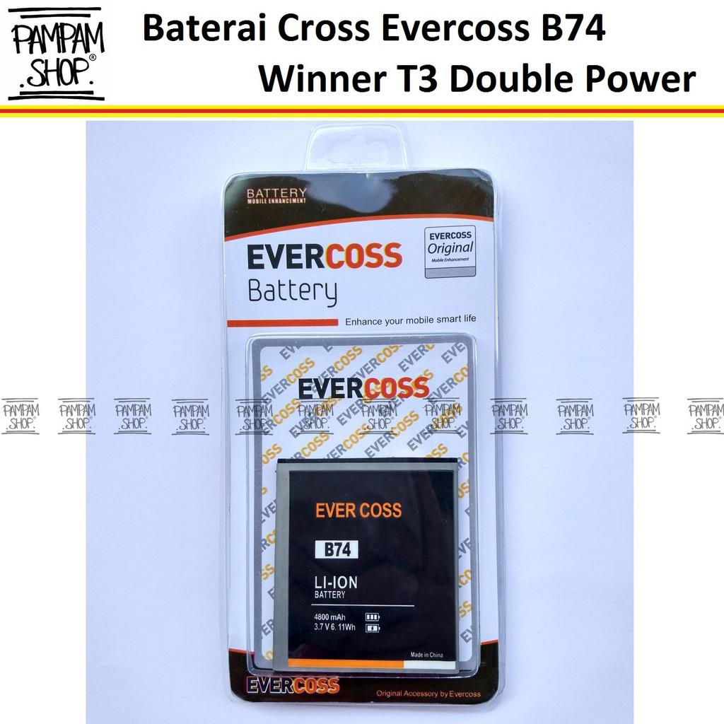 Baterai Handphone Evercoss T3 Double Power Evercoss Batre HP Evercoss T3 Battery Cross T3 Batu T3 | Shopee Indonesia
