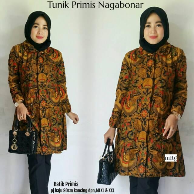 Tunik Batik Wanita Tunik Batik Modern Atasan Batik Kerja Tunik Batik Kekinian