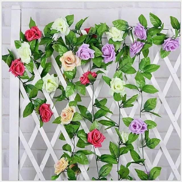 Bunga Rambat Dua Warna Kualitas Bagus / Bunga artificial / Tanaman Artificial / tanaman rambat | Shopee Indonesia
