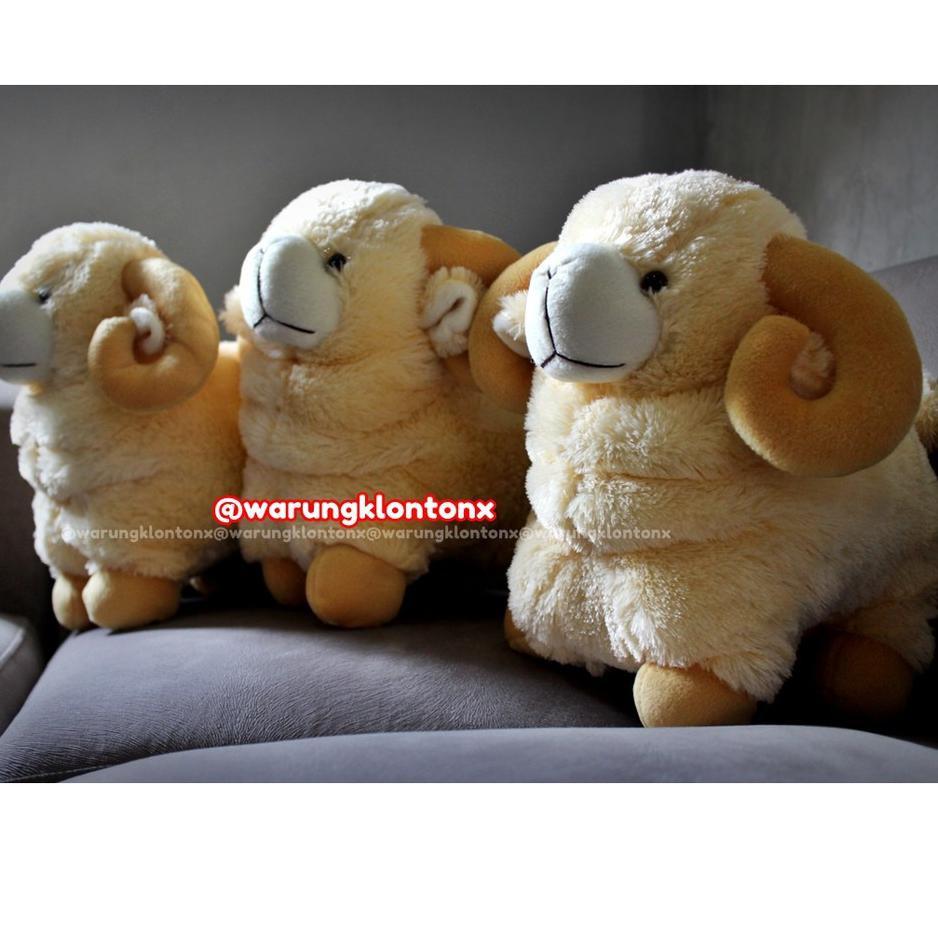 Paling Laris Boneka Domba Tanduk L Besar Lucu Berkualitas