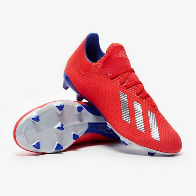 Sepatu Bola Adidas X 18 3 Fg Active Red Original Shopee Indonesia