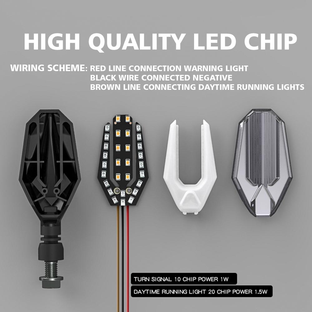 KKmoon Universal Motorcycle LED Turn Signal Light Indicators Blinker Light Flashers Lighting Motorcycle Accessories Blue
