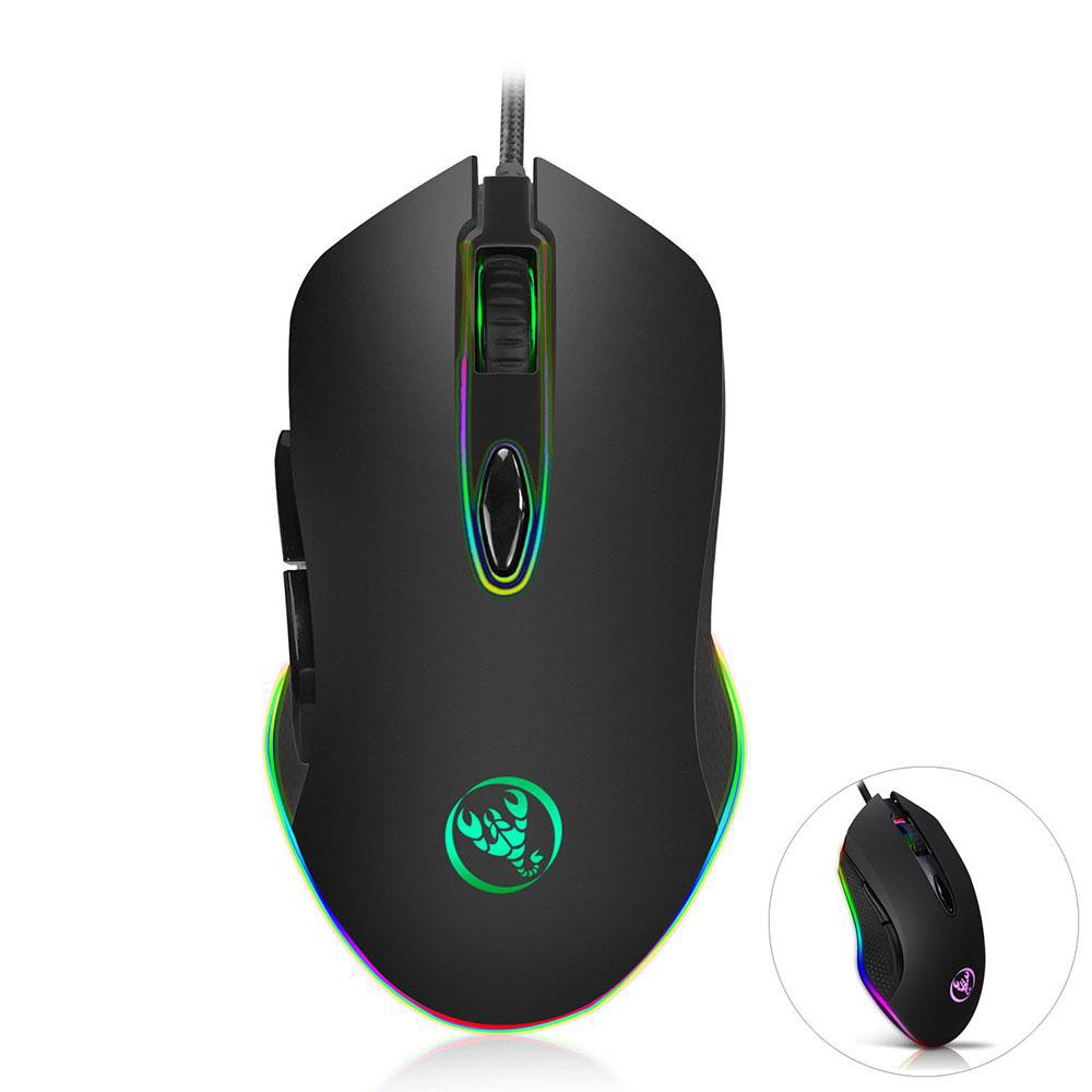 Programmable Gaming Wired Mouse Optical 4800 DPI 6 Buttons RGB Backlit Ergonomic