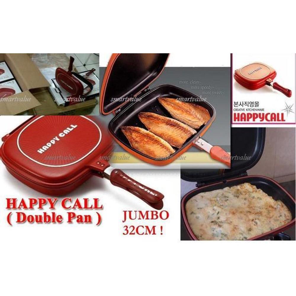 Happy Call Double Pan Jumbo 32cm Bonus Buku Manual Dan Karet Seal Shopee Indonesia