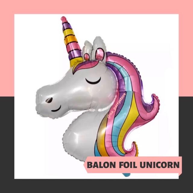 ecer harga grosir balon foil unicorn besar  balon