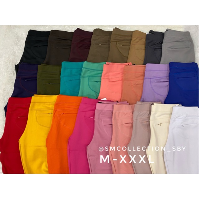 Celana Merk Saya Licin Import Panjang Stretch Korea Legging Saya Import Celana Kerja Celana Import Shopee Indonesia