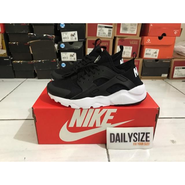 Nike Air Huarache Ultra Run Black White - Sepatu Nike Huarache