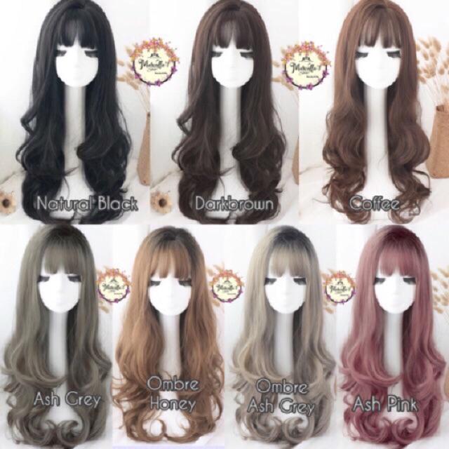 ✿UIEEPGP✿Womens Ladies Medium Curly Blonde Hair Cosplay Daily Synthetic Full Wigs | Shopee Indonesia