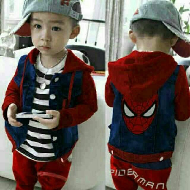 5a1044193 set polo spideR   stelan anak   baju anak cowo   pakaian anak kecil ...