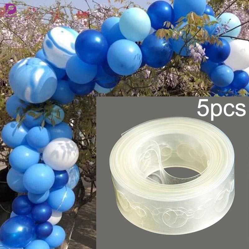5M Clear Balloon Arch Decor Strip Connect Chain Plastic Tape for Party Wedding